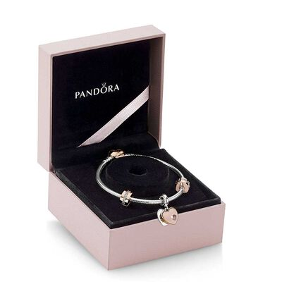 PANDORA In My Heart Bracelet Gift Set, PANDORA Rose™,  CZ & Crystal