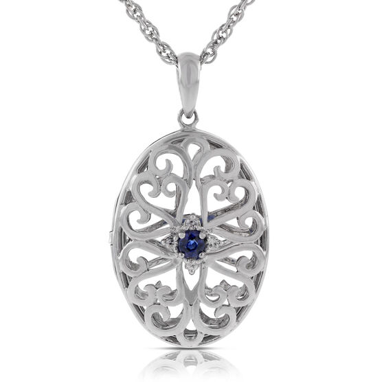Sapphire Pendant in Sterling Silver