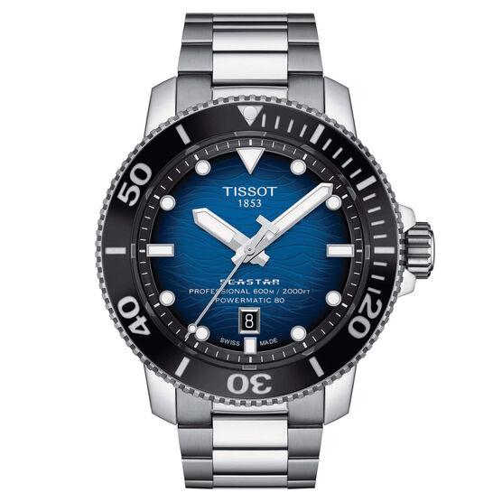 Tissot Seastar 2000 Powermatic 80 Blue Dial Steel Watch, 46mm