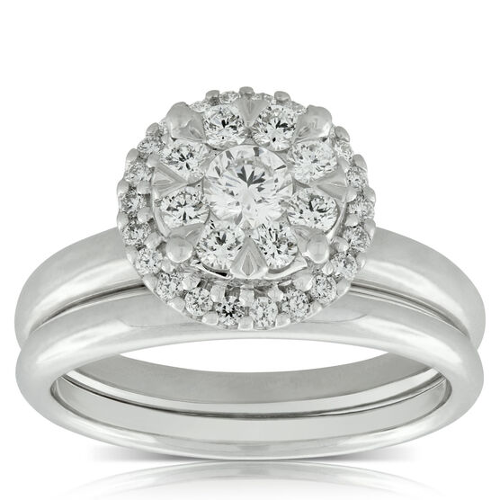 Diamond Bridal Set 14K, 2/3 ctw.