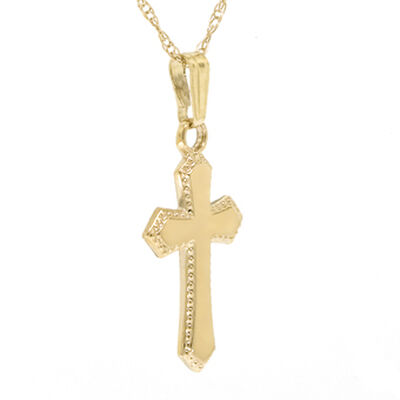 Baby Cross Pendant 14K