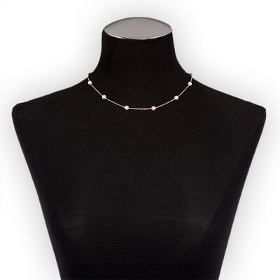 Mikimoto Akoya Cultured Pearl Necklace, 5mm, A+, 18K