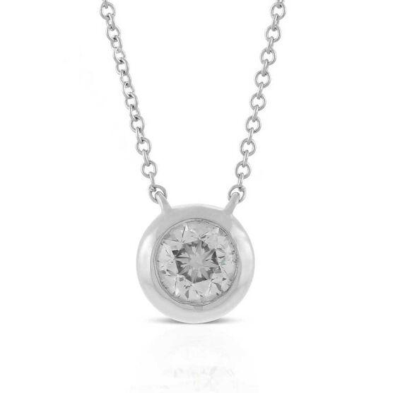 Bezel Set Diamond Necklace 14K, 1/2 ctw.