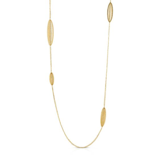 """Toscano Coiled Stations Necklace 14K, 32"""""""
