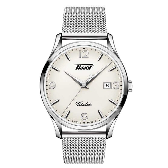 Tissot Heritage Visodate White Dial Watch, 40mm
