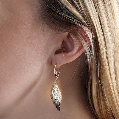 Toscano Laser Cut Out Rhombus Earrings 14K