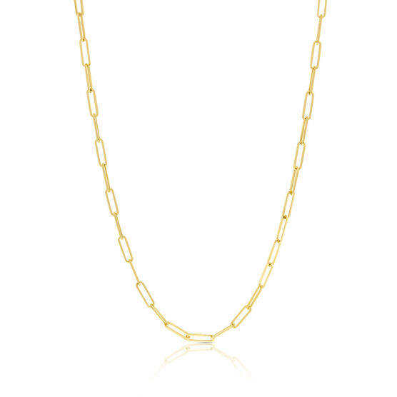 """Paperclip Chain Necklace 14K, 18"""""""