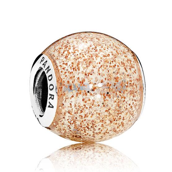 Pandora Rose Golden Enamel Glitter Ball Charm