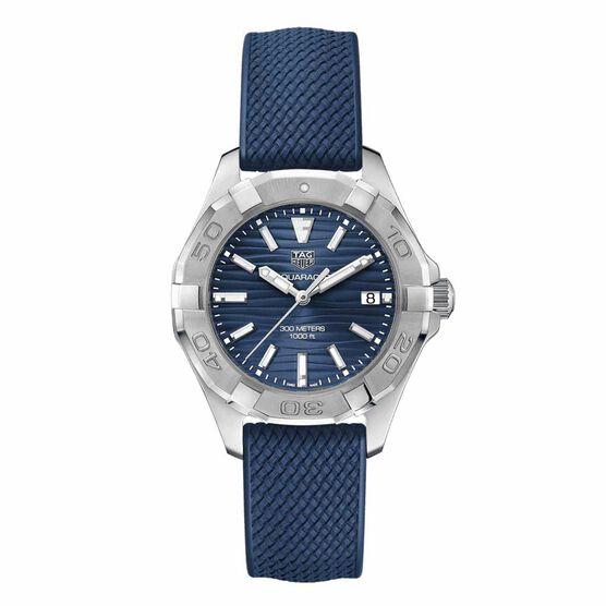 TAG Heuer Aquaracer Quartz Ladies Blue Rubber Watch