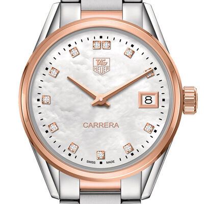 TAG Heuer Carrera Rose Gold Diamond Quartz Watch