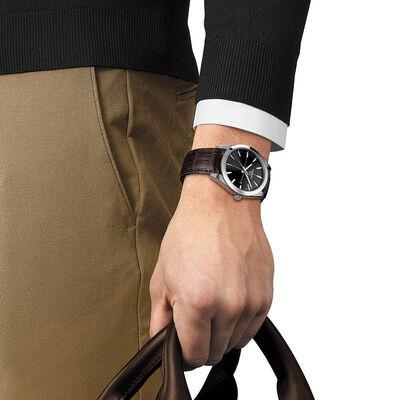 Tissot Gentleman Black Dial Watch, 40mm