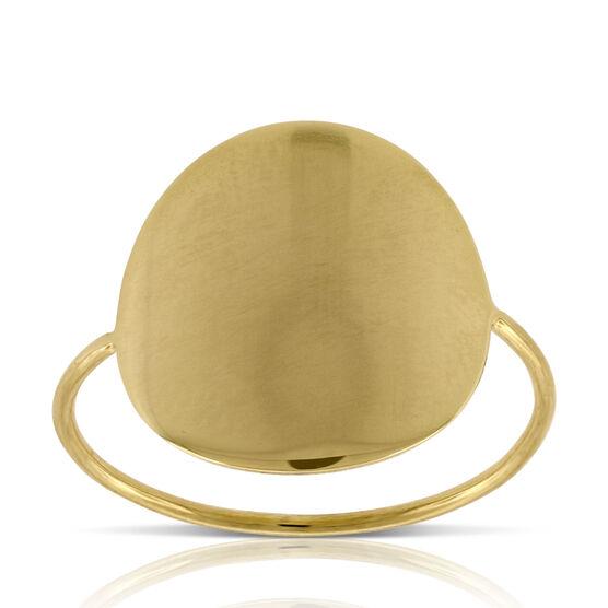 High Polished Circle Ring 14K