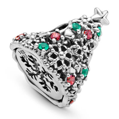 Pandora Glitter Christmas Tree Crystal & CZ Charm