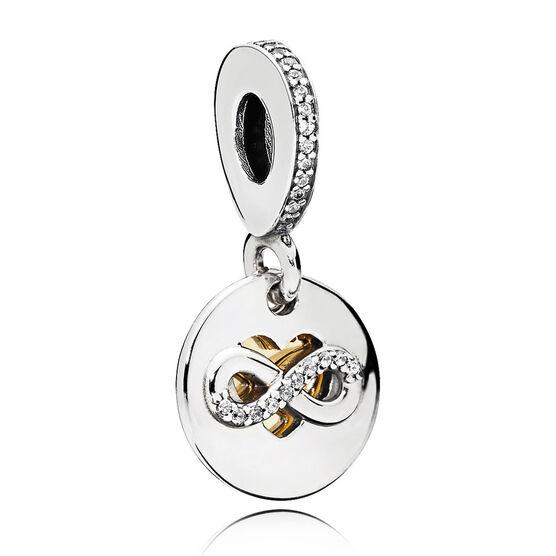 Pandora CZ Heart of Infinity Dangle Charm, Silver & 14K