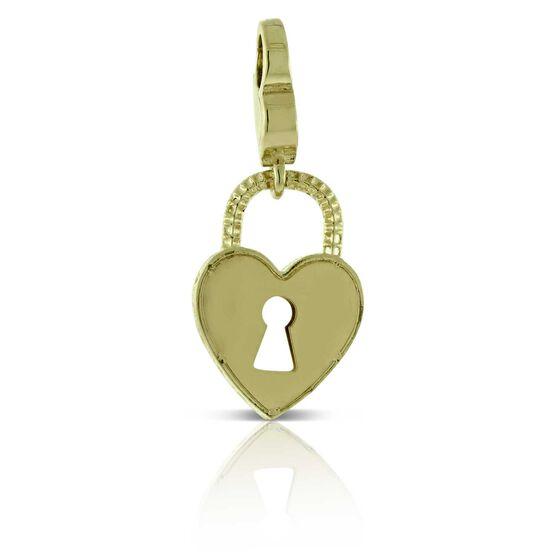 Toscano Heart Lock Charm / Pendant  14K