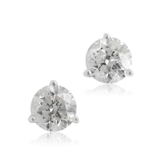 Diamond Solitaire Stud Earrings 14K, 1 1/2 ctw.