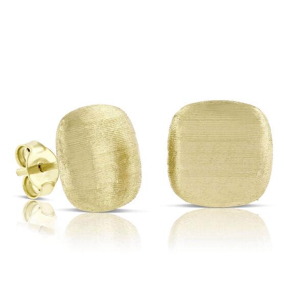 Toscano Satin Square Earrings 14K