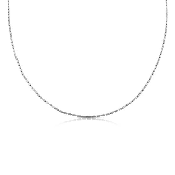 Square Bead Link Chain 14K, 18""