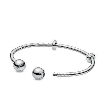 Pandora Moments Snake Chain Style Open Bangle
