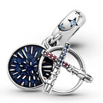 Pandora Star Wars Lightsaber Enamel, Crystal & CZ Double Dangle Charm