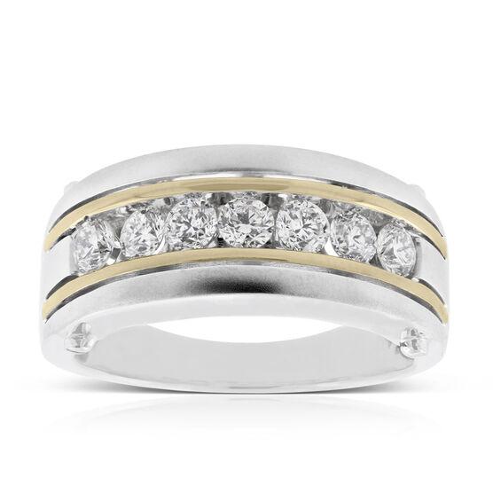 Men's Two-Tone Diamond Ring 14K
