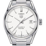 TAG Heuer Carrera Calibre 5 Automatic Mens Silver Steel Watch