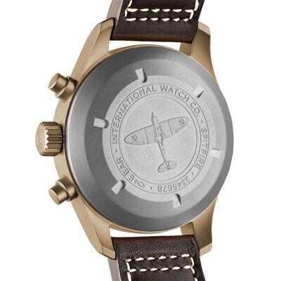 IWC Pilot's Watch Green Dial Bronze Chronograph Spitfire, 41mm