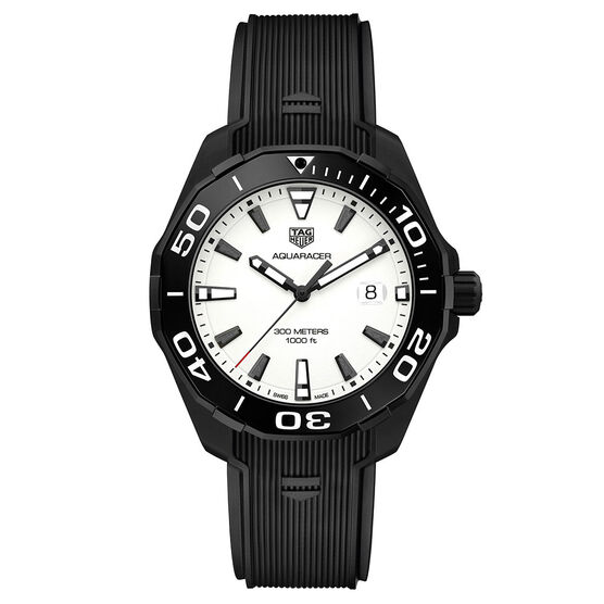 TAG Heuer Aquaracer Nightdiver White Dial Watch 43mm