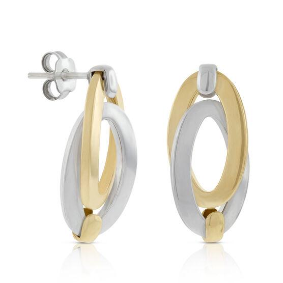 Toscano Double Link Oval Earrings 18K