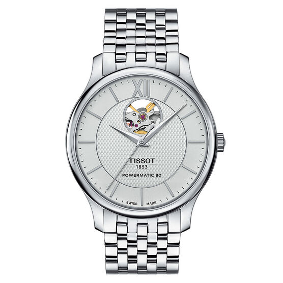 Tissot Tradition Powermatic 80 Open Heart T-Classic Auto Watch, 40mm