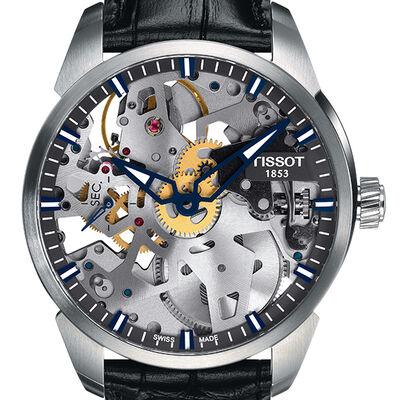 Tissot T-Complication Squelette Skeleton Dial Watch
