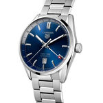 TAG Heuer Carrera Calibre 7 Twin Time Auto Blue Steel Watch, 41mm