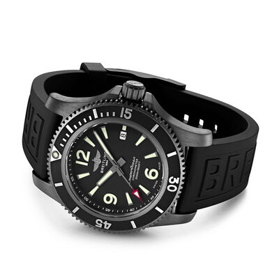 Breitling Superocean Automatic 46 Black Steel Black Dial Watch