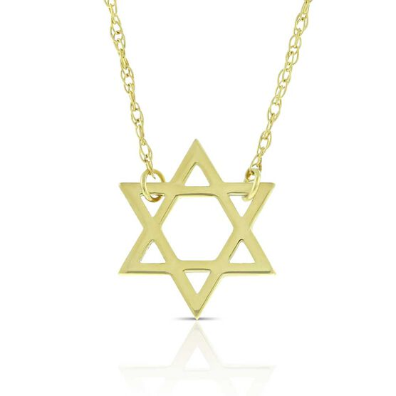 Mini Star of David Necklace 14K