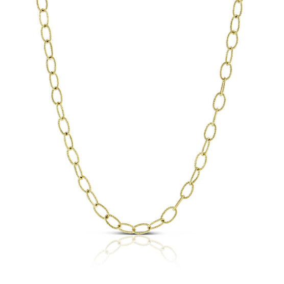 """Toscano Oval Link Chain Necklace 14K, 32"""""""