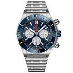 Breitling Super Chronomat B01 44 Blue Steel Watch, 44mm