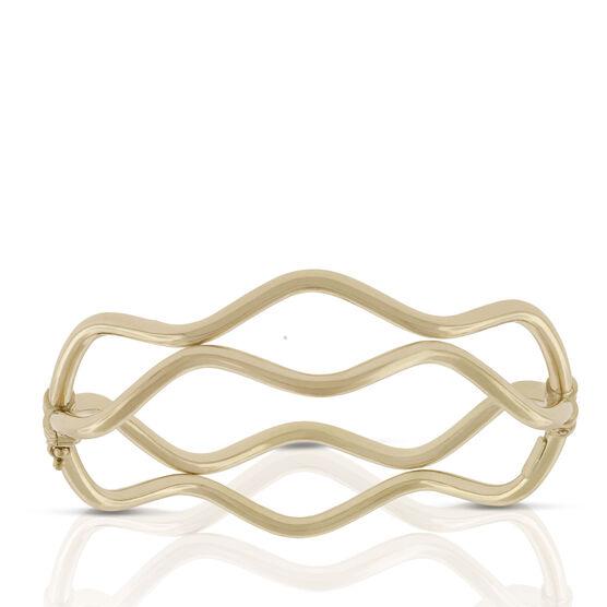 Toscano Double Wavy Bangle Bracelet 18K