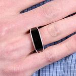Men's Onyx Ring in Sterling Silver