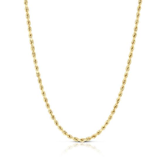 "Diamond Cut Rope Chain 14K, 24"""