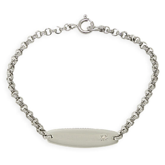 Baby ID Bracelet in Sterling Silver