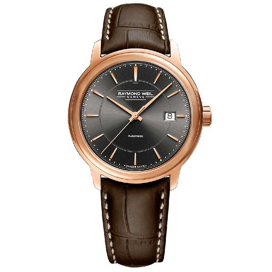 Raymond Weil Maestro Rose PVD Automatic Watch, 39.5mm