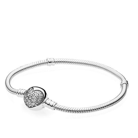 Pandora Sparkling Heart CZ Bracelet