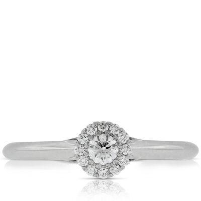 Halo Cupcake Diamond Ring 14K
