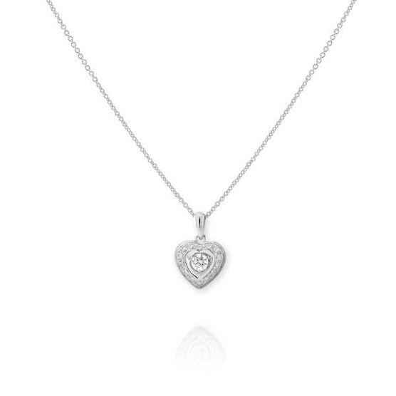 Forevermark Diamond Heart Pendant 18K, 1/4 ctw.