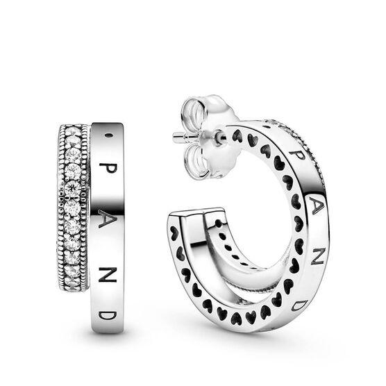 Pandora Pavé Double Hoop CZ Earrings
