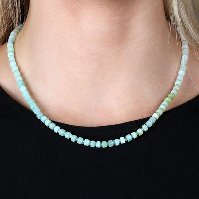 Lisa Bridge Faceted Opal Bead Necklace