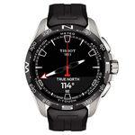 Tissot T-Touch Connect Solar Black Rubber Titanium Watch, 47.5mm