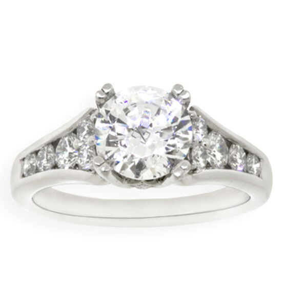 Diamond Semi-Mount Ring in Platinum