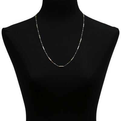 "Toscano Diamond-Cut Bead Necklace 18K, 24"""