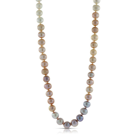 Freshwater Cultured Pearl Ombre Strand, 14K